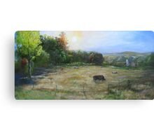 Grazing in the tall grass Canvas Print