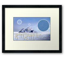 Icy Desert Framed Print