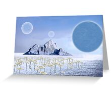 Icy Desert Greeting Card