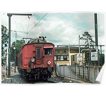 Red Train bound for Hurstbridge from Eltham 19830409 0006  Poster