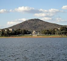 Canberra View Across Lake Burley Griffin by WoodenDuke