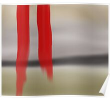 Abstract - Twin Ribbons Poster