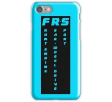 FRS Cut - Front Engine Rear Wheel Drive Sport  iPhone Case/Skin