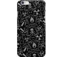 Hazardous Life (Black Grey pattern) iPhone Case/Skin