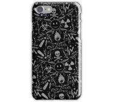 Hazardous Life (Black Grey pattern) iPhone Case/Skin