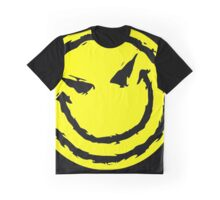 Big funny face.YELLOW Graphic T-Shirt