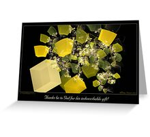 Indescribable Gift Greeting Card