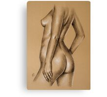 Charcoal nude female #9 Canvas Print