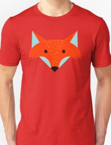 A fox and a snowflake on a blue background. T-Shirt