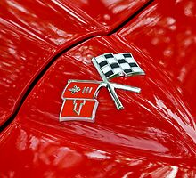 Corvette Flags on Red by dlhedberg
