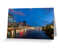 Lights on the River Greeting Card