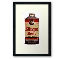 BEER - Vintage Burguer can. Framed Print