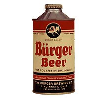BEER - Vintage Burguer can. Photographic Print