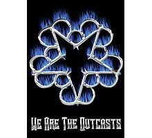 Fiery Chrome Black Veil Brides Star - We Are The Outcasts Photographic Print