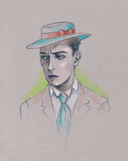 Buster Keaton (in color!) by juliealberti