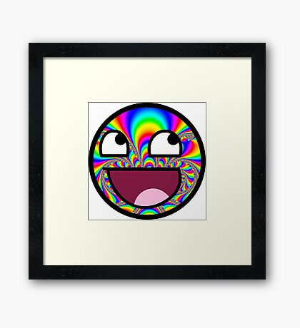 AWESOME MEME FACE - Cool  EFFECT Framed Print