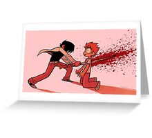 Crimson Game Over Greeting Card