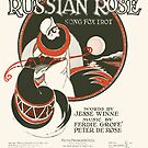 RUSSIAN ROSE (vintage illustration) by ART INSPIRED BY MUSIC