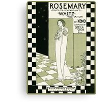 ROSEMARY (vintage illustration) Canvas Print