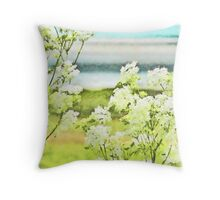 On the Mudflats of Pegwell Bay Throw Pillow