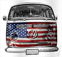 USA VW van Poster