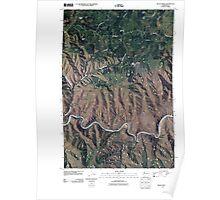 USGS Topo Map Washington State WA Fields Spring 20110406 TM Poster