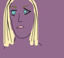 Purple Girl with Yellow Hair Sticker