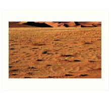 Closeup Sand, Namibia Art Print
