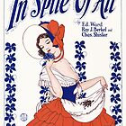 IN SPITE OF ALL (vintage illustration) by ART INSPIRED BY MUSIC