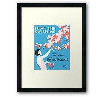 I LOVE THE SUNSHINE (vintage illustration) Framed Print