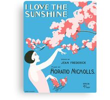 I LOVE THE SUNSHINE (vintage illustration) Canvas Print