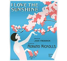 I LOVE THE SUNSHINE (vintage illustration) Poster