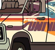 Wheels for Mr. Universe Sticker
