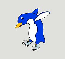 Christmas Blue Penguin with Silver Ice Skates Unisex T-Shirt
