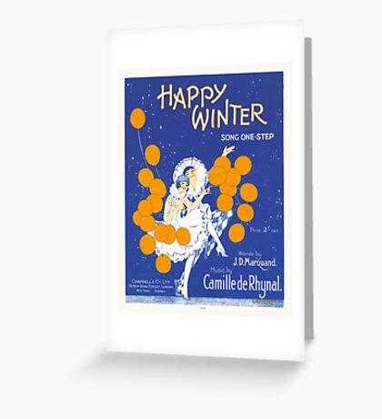 HAPPY WINTER (vintage illustartion)  Greeting Card