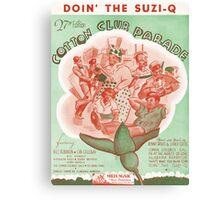 DOIN THE SUZI-Q (vintage illustration) Canvas Print