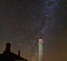 Split Point Lighthouse and Galaxy by pablosvista2