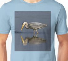 Grey Heron fishing Unisex T-Shirt