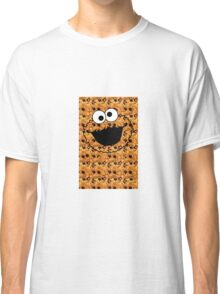 COOKIE MONSTER.REAL COOKIE BACKGROUND Classic T-Shirt