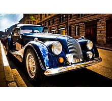 The Morgan Plus 8 in backlight Photographic Print