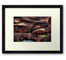Sunset Sydney Harbour Bridge- VIVID Festival  Framed Print