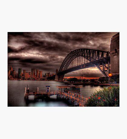 Sunset Sydney Harbour Bridge- VIVID Festival  Photographic Print