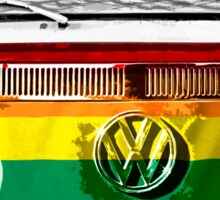 VW van Rainbow Sticker