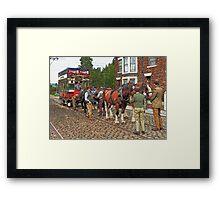 Horse drawn tram Framed Print