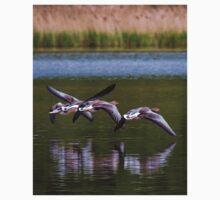 Greylag Geese in flight Kids Tee