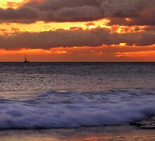 nautical sunset (series) by Angelika Sielken