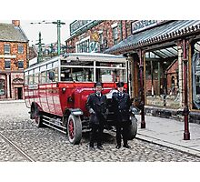 On the buses Photographic Print