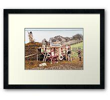 Victorian threshing machine Framed Print