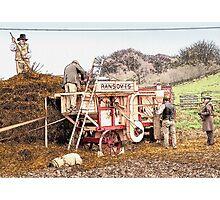 Victorian threshing machine Photographic Print