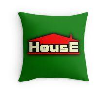 Vintage House Throw Pillow